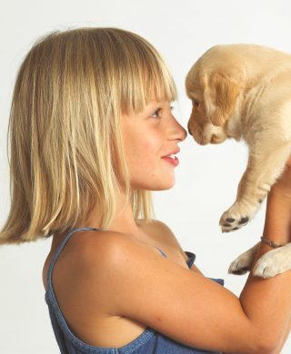 South African Guide-Dogs Association For The Blind Guide Dog Puppy And Child