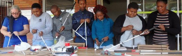 South African Guide-Dogs Association For The Blind College Of Orientation & Mobility Making Long Canes