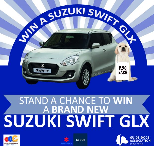 South African Guide-Dogs Association for the Blind Suzuki Swift GLX Car Raffle 2020