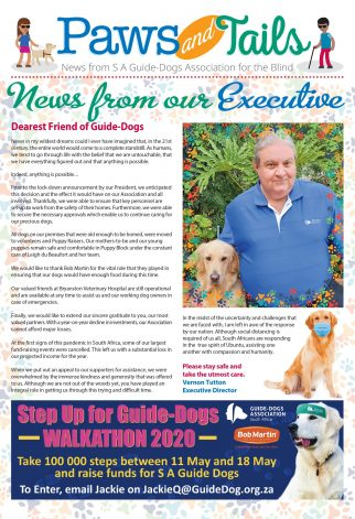South African Guide-Dogs Association for the Blind Paws and Tails April 2020