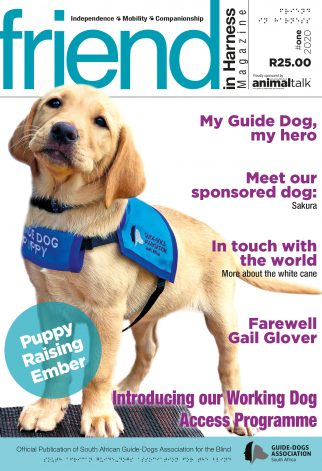 South African Guide-Dogs Association for the Blind friend in Harness Magazine 1 2020
