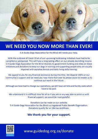 South African Guide-Dogs Association for the Blind_Lockdown Update